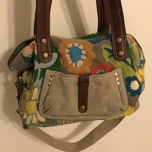 Fossil Muted Floral Purse